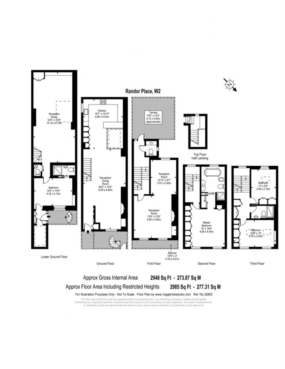 Floorplan for Radnor Place, Paddington, W2