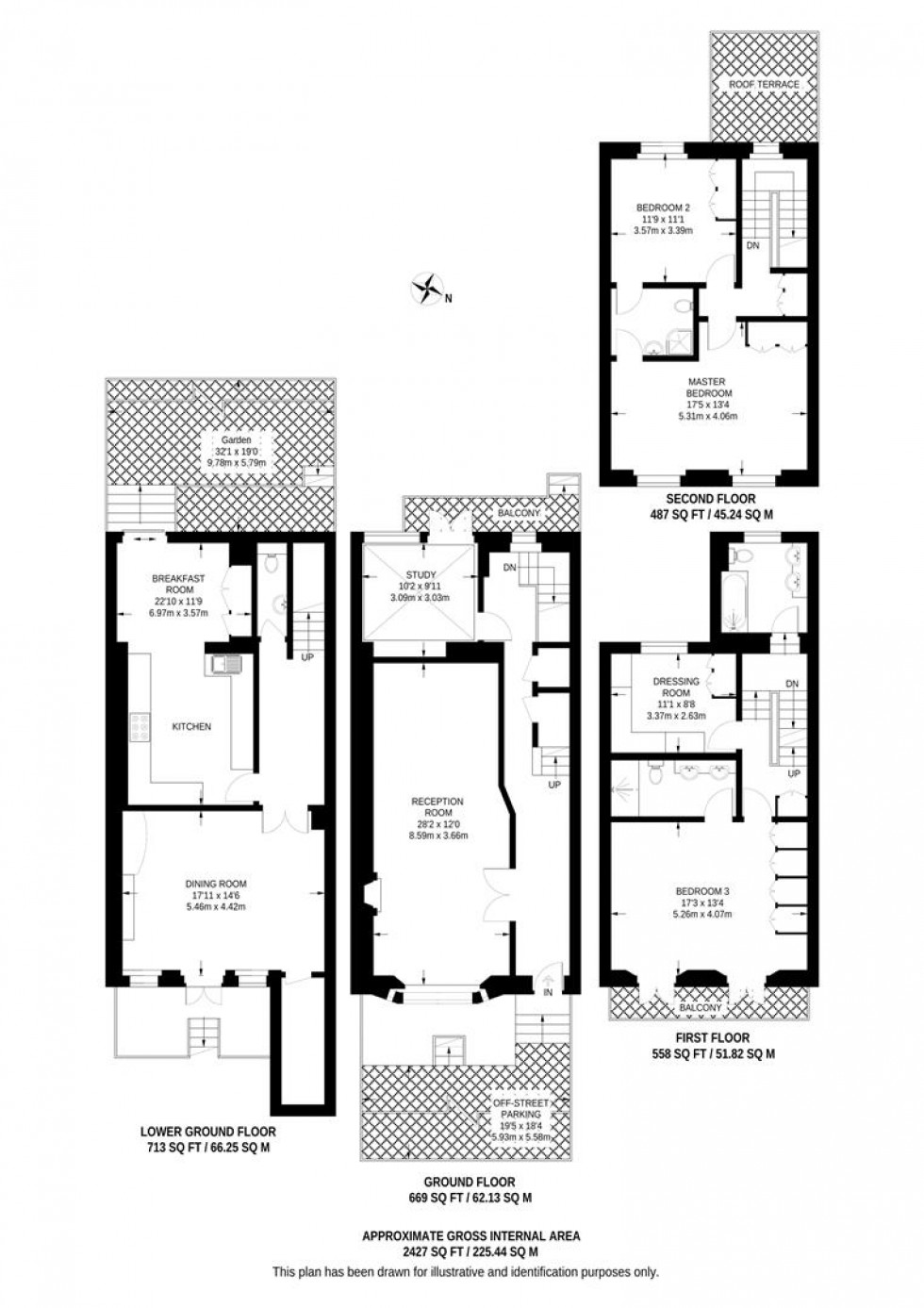 Floorplan for Marloes Road, London