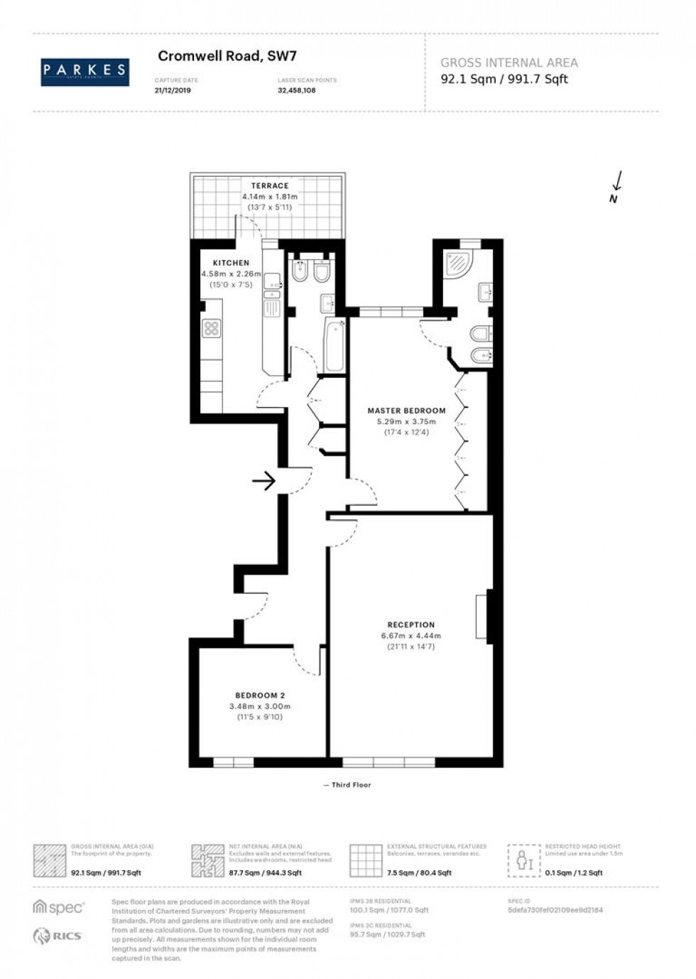 Floorplan for Cromwell Road, Kensington, SW7